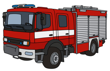 Hand drawing of firetruck
