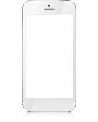 Smartphone with blank screen isolated on white background.  Vector eps10 illustration