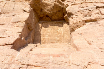 Egyptian ancient temple engravings on