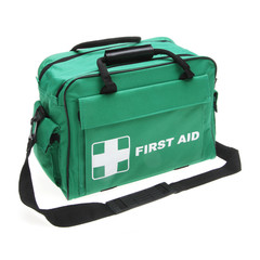 First Aid Green Bag Isolated on White Background. Medical Kit