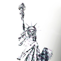 Digital Rendering of the Statue of Liberty