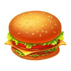 Colorful Hamburger icon illustration isolated on white background