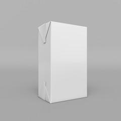 Mock-up packages. Juice and milk. 3D illustration
