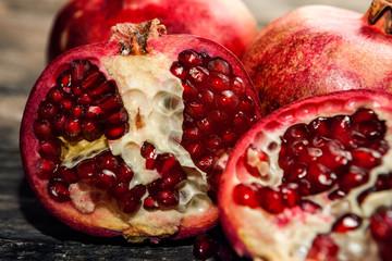 Close up of half pomegranate