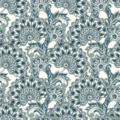 Floral oriental ethnic Pattern. Vector background