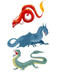 Three dragons set