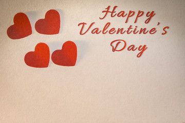 Valentine's Day card, paper punch