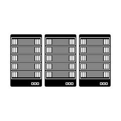 black optimization database icon image design, vector illustratuion