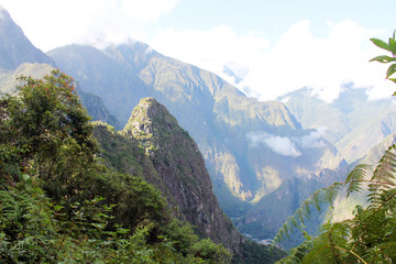 Nice landscape with mountains in Peru South, America
