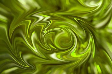 Digital blurred green background with grunge flow