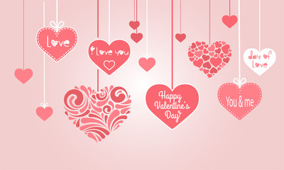 valentine - background - card - love