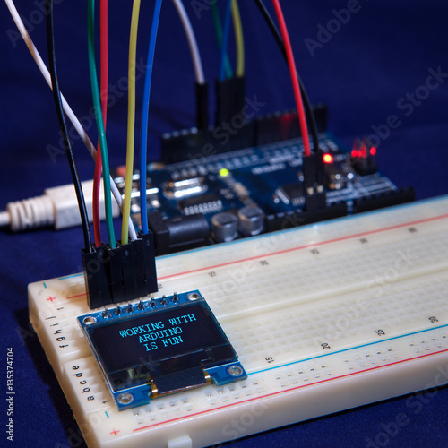 educational table top experiment with popular arduino micro
