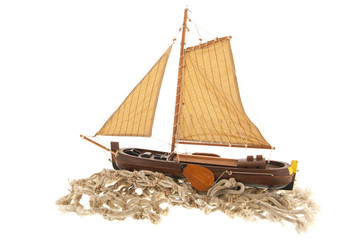 Old Dutch sail boat