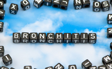 The word Bronchitis on the sky background