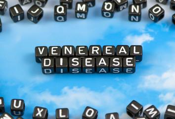 The word Venereal disease on the sky background