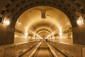 Tunnel under Elbe River in Hamburg