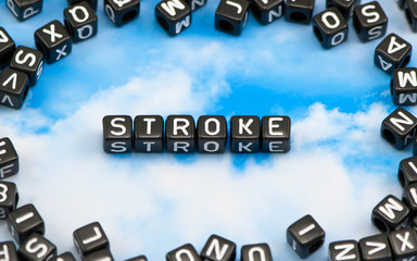 The word Stroke on the sky background