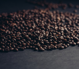 brown grains on a gray background