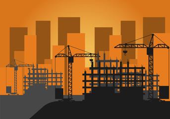 Vector Illustration Construction Site