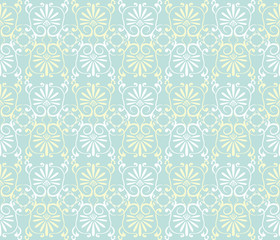 Seamless modern damask tropical vector pattern. Seamfree vector wallpaper background.