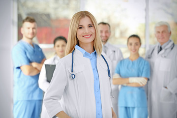 Young female doctor in clinic
