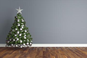 Beautiful Christmas interior . 3D rendering