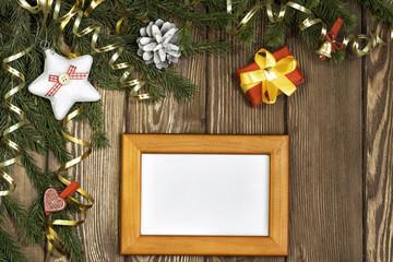 Wishing you Merry Christmas . Mixed media