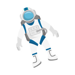 astronaut in space character vector illustration design