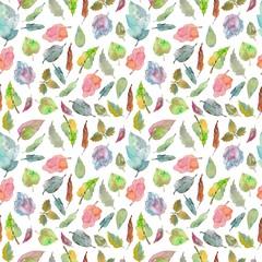 Watercolor foliage pattern