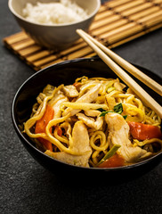 Chinese noodle with meat