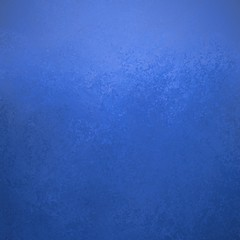textured blue background with dark vintage grunge and stains and light color border, sponged painted wall design