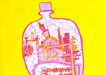 抽象的な街