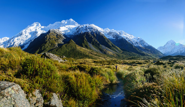 Mount Cook,Hooker Valley Track, New Zealand