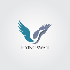 Flying swan logo