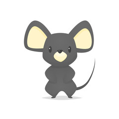 Cute mouse cartoon vector isolated