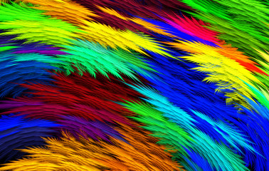 Abstract colorful feathery background