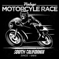 vintage motorcycle race