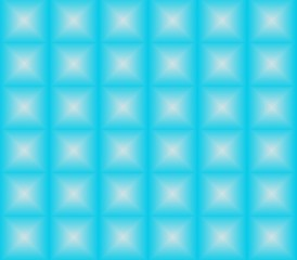 Abstract seamless blue background white squares are laid out in rows and form a continuous pattern