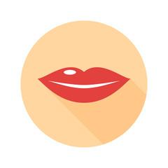 Lips flat design icon vector