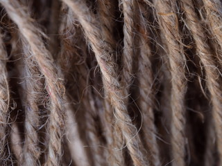 Hemp rope, texture background;