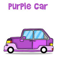 Purple car vector art illustration