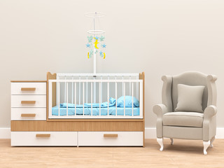 Baby's room with armchair