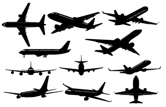 Silhouettes of Airplanes