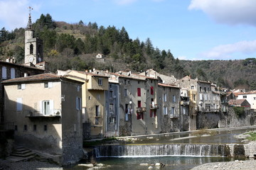 Historic town in the Cévennes, France
