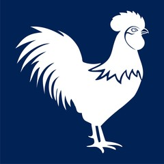 Rooster vector logo concept - vector Illustration