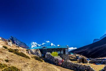 Tuinposter Scandinavië Haus Nepal Himalaya