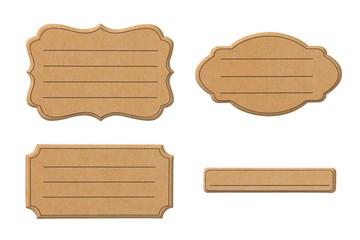 Kartonschilder mit Textzeilen für eigene Beschriftung