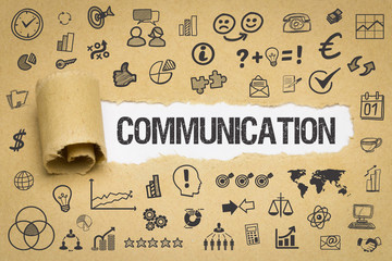 Communication / Papier mit Symbole