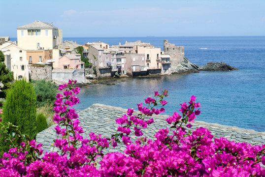 The village of Erbalunga on Corsica island