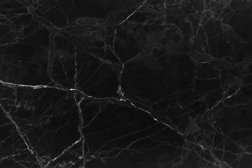 Black marble natural pattern for background, abstract black and